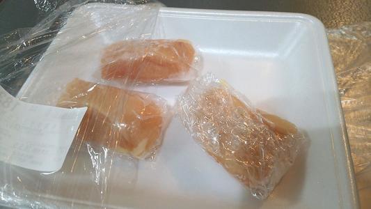 ラップで包んだササミ